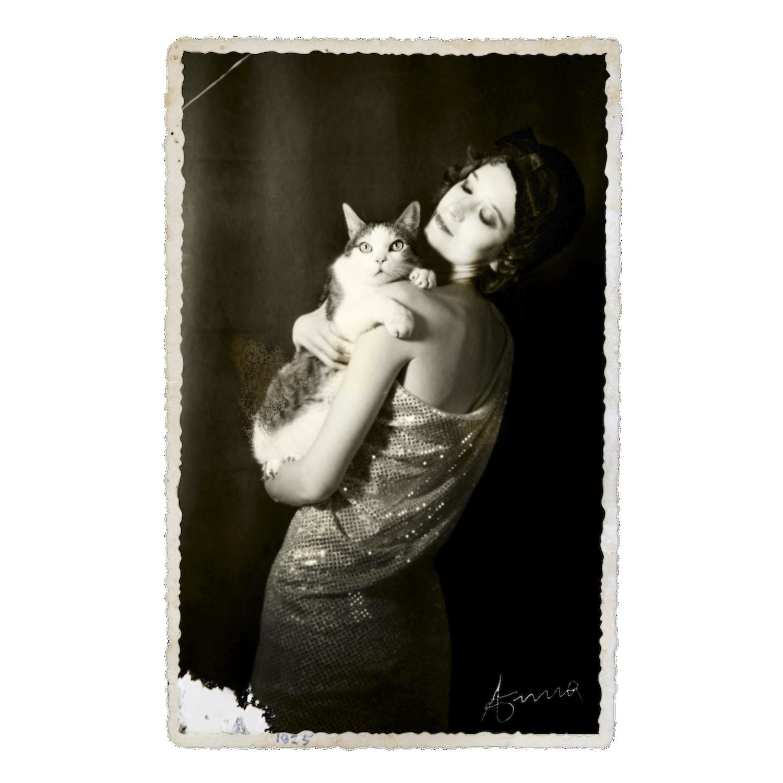 Self Portrait with my Cat in the Roaring Twenties